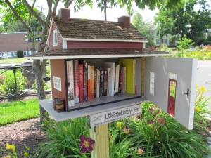 An example of a Little Free Library in Easthampton, MA. Image courtesy of Wikimedia Commons.