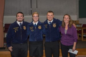 Second year students from the Clinton County FFA Agribusiness group