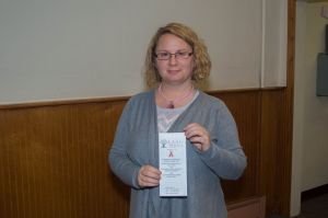 Shawn from Lansing Area AIDS Network (LAAN) - she'll be back in November to present again